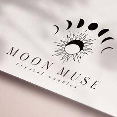 Moon Phase Star Logo Magic Logo Tarot Logo Candle Logo | Etsy Branding Kit, Business Branding, Candle Logo, Yoga Logo, Square Logo, Hand Drawn Logo, Watercolor Logo, Social Media Banner, Modern Logo