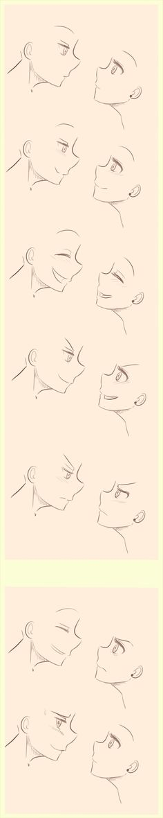 Anime/Manga Side profile expressions reference. by ~littlesomethings on deviantART