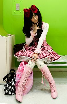 Lollita style. Taken in an underground mall by Takeshita Dori, Harajuku, via Flickr.