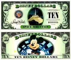 DisneyDollars.net: 2014 Disney Dollars Disney Money, Disney Diy, Disney Crafts, Disney Frozen, Disney Stuff, Space Mountain Disney, Disney Scrapbook, Scrapbook Layouts, Scrapbooking