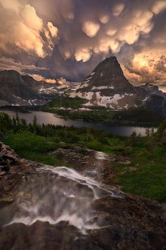 """Descent to Explosion"": Glacier National Park. Photo by Miles Morgan."