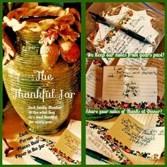 Our Thankful Jar....a wonderful family Tradition...find us on Facebook at the CattleQueen aka Boss Lady...all the directions are posted there!