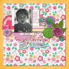 Digital Scrapbook Page by Ophelia | Adorbs by Bella Gypsy Designs