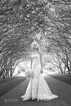 bridal at Dallas Arboretum