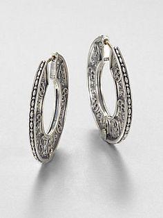 Konstantino Sterling Silver Disc Hoop Earrings