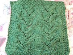 Vine Lace Cloth ~ smariek knits