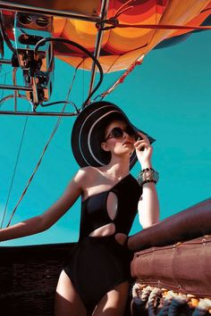 Fashion Spreads- Up, Up & Away: Sarah Pauley Enchants for Vogue India Shoot by Mazen Abusrour