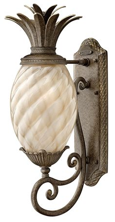 """Hinkley Hawaiian Plantation 22"""" High Outdoor Wall Light - more in my range.., I have been making a couple of pineapple light covers,perhaps purchasing would be quicker but not """"mine"""""""