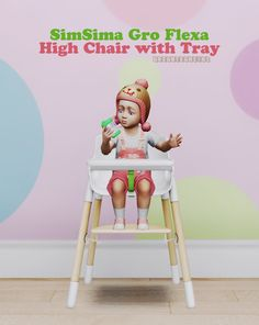 SimSima Gro Flexa High Chair with Tray (S3 to S4)