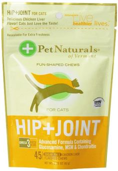 Pet Naturals of Vermont 3-Pack Hip Plus Joint Fun-Shaped Chews for Cats *** Click image for more details.