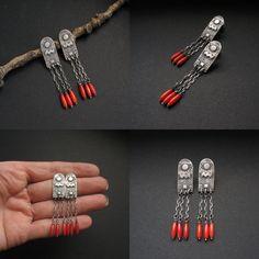 Pavita - silver earrings by Anna Fidecka  #silver #jewelry #earrings #kolczyki #biżuteria