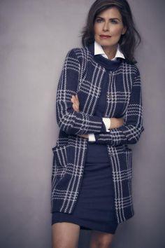 Purdey Mode   Purdey vestjasje in wolmix blauw
