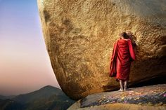 """""""From the Travel category, The golden rock by David Lazar of Brisbane, Australia. Photographed in Kyaiktiyo, Myanmar, in February of 2010. (© Smithsonian.com)"""" via In Focus."""