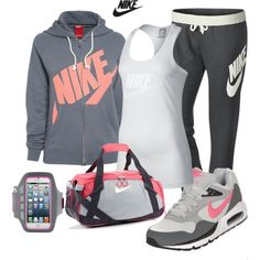 """Nike Girl Overnight Trip"" by lindakol on Polyvore"