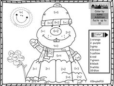 Groundhog Day Addition Sums to 10 Coloring Page from Joy from Joy on TeachersNotebook.com (1 page)  - Math addition up to 10 for first and second grade. Groundhog Day fun page.