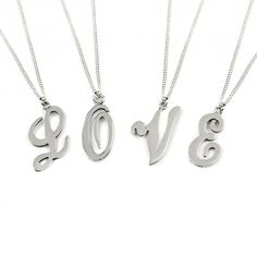 Initial Sterling Silver Necklace from Tales from the Earth. Your initial, your child's initial, your best friend's initial. There is probably no more personal charm to wear than the first letter of a name. It represents the bearer of that name and everything that makes that person unique.