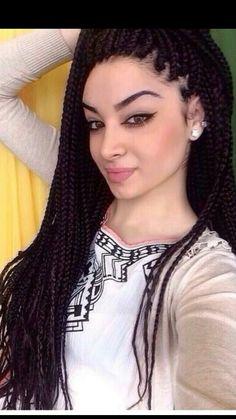 White girl box braids