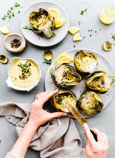 Instant Pot Steamed Artichokes with Mediterranean Aioli are not only easy to make, but delicious and nutritious! Quickly pressure cook for steamed artichokes in just 10 minutes. A paleo low carb vegetarian dish your family will love! Vegan options too! #paleo #instantpot #vegetarian #lowcarb
