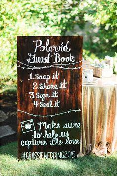 #Polaroid wedding guestbook ideas #weddingsigns #guestbookideas @weddingchicks