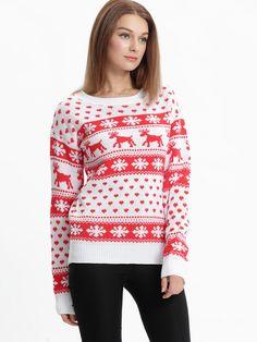 Snowflake Deer Pullover Sweater. This one is amazing too!! 🐉 Deer d02969cbd