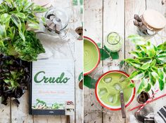 gazpacho verde, sus ingredientes principales: el aguacate, el pepino y la manzana. Su sabor: suave, ligeramente dulce y con una textura aterciopelada
