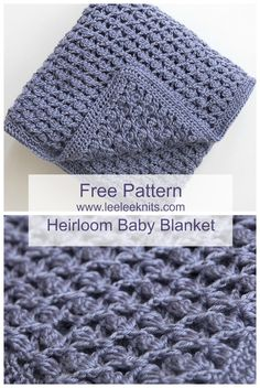 Crochet Baby Patterns Free Heirloom Baby Blanket Crochet Pattern - Free baby blanket crochet patterns – If you know how to crochet or are just learning how to crochet. Stitch Crochet, Crochet Stitches, Crochet Hooks, Knit Crochet, Crochet Afghans, Crochet Baby Blanket Patterns, Baby Patterns, Patron Crochet, Baby Boy Knitting Patterns Free