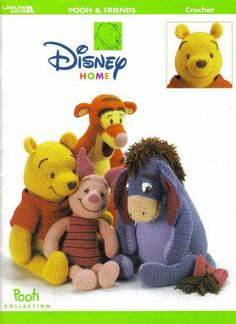 Crocheted Disney Winnie the Pooh + Friends - Crocheted Disney Toy. Digital Pattern on Etsy, $3.88 CAD