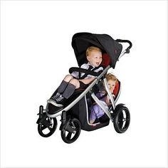 Phil & Teds Verve Stroller with Double Kit in Red Verve Stroller in Red