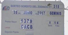 #GorditodelZodiaco signo Geminis del Viernes 30 de Junio 2017. Loteria Nacional de Panama ver detalles ►
