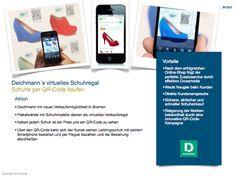 Deichmanns virtuelles Schuhregal. Schuhe über QR-Codes kaufen. http://de.slideshare.net/TWTinteractive/twt-trendradar-deichmanns-virtuelles-schuhregal