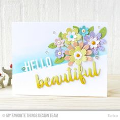 Sensational Stitched Flowers Card Kit, Hello Beautiful Die-namics - Torico  #mftstamps