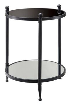 Crestview Reflections Mirrored Accent Table CVFZR856