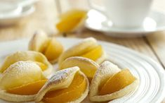 Banuti cu piersici  - Prajitura Dessert Recipes, Desserts, Pretzel Bites, Sweet Recipes, Chips, Peach, Sweets, Snacks, Cooking
