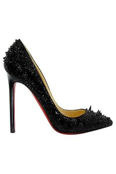 Christian Louboutin Bianca 140 Platform Pumps Black - would love for New Year's Eve Cheap Red Bottom Shoes, Black Christian Louboutin, Hot Heels, Crazy Shoes, Pointed Toe Pumps, Black Pumps, Fashion Shoes, Women's Fashion, Fashion Weeks