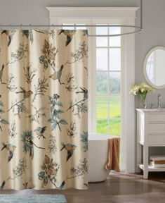Window Treatments Home & Garden Cooperative Curtains Salon Durable Waterproof Mildew-proof Jacquard Mirror Bathroom Curtain With Hooks Curtains For Living Room