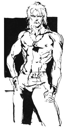 Shirtless Liquid Sketch, Metal Gear Solid 1