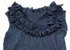 diy ruffled tank t-shirt refashion! A simple must do for my closet!!!
