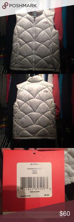 North Face Vest Brand New White Vest North Face Jackets & Coats Vests