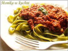 Szpinakowy makaron z tuńczykiem i pomidorami Spaghetti, Pasta, Ethnic Recipes, Food, Essen, Meals, Yemek, Noodle, Eten