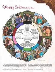 Winning Colors by Hobby Horse- use chart  to match your show shirt to your horse's color!! :)