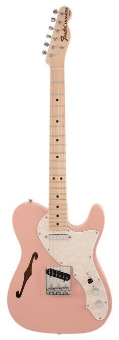 fender custom shop - 1969 telecaster thinline. shell pink.