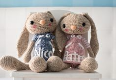This Long Eared Bunny Crochet Pattern is perfect for your next project and he comes with the cutest little friend for you to make. Get the Free Pattern now.