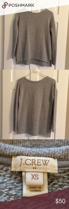 "FLASH SALE J. Crew Hi-Lo Marled Sweater ✨NWOT✨ Round collar, front - 24"" shoulder to bottom, back - 26"" shoulder to bottom, size x-small. J. Crew Sweaters"