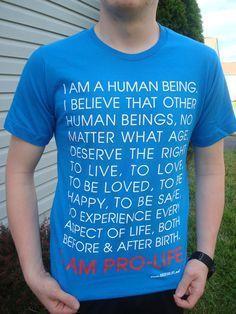I AM PRO-LIFE T-shirt Turquoise