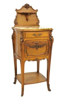 A Louis XV Style Lamp Table With Marble Top. 7/25, 7:30pm