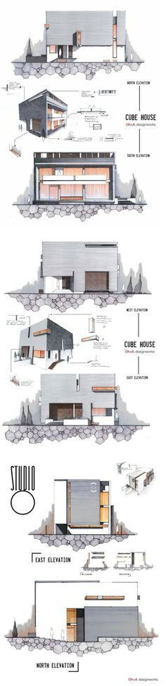 Architecture Sketchbook, Architecture Graphics, Architecture Portfolio, Architecture Plan, Amazing Architecture, Interior Architecture, House Layout Plans, House Layouts, Eco Construction