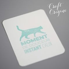 Chat - Tampon caoutchouc - Craft Origine #craftorigine #diy #tampon #scrapbooking #stamps #chat #cat #calin