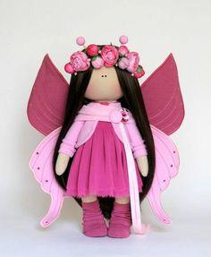 Butterfly doll Handmade doll Muñecas Bambole Puppen Tilda doll
