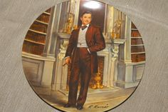 """Vintage Limited Edition """"Rhett""""  Gone with the Wind Collectible Plate - Decorative Plate by Raymond Kursar 1981 Plate 11456 L"""