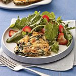 Mushroom and Spinach Frittata With Smoked Gouda Recipe | MyRecipes.com